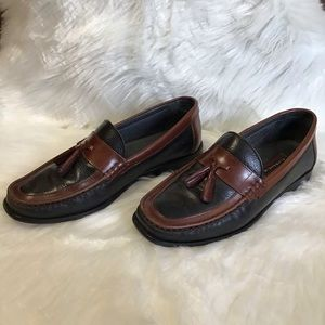 Florsheim Two Tone Leather Tassel Loafer Size 9